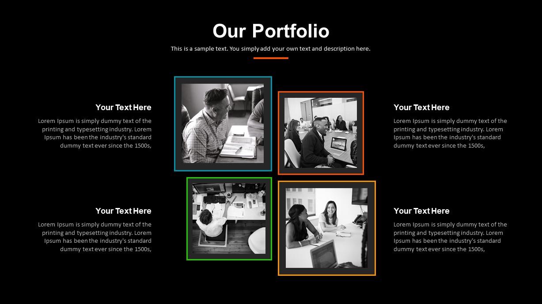 Digital Marketing Portfolio PowerPoint Template