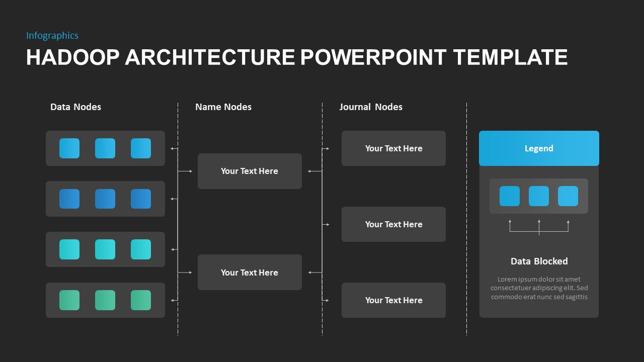 Hadoop Architecture PowerPoint Diagram