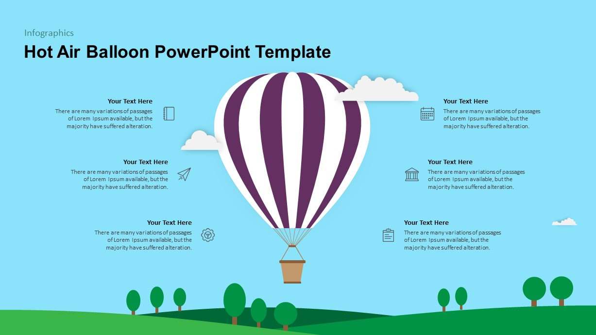 Hot Air Balloon PowerPoint