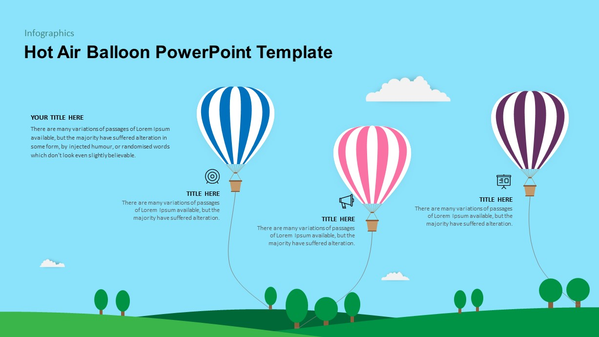 Hot Air Balloon PowerPoint Diagram