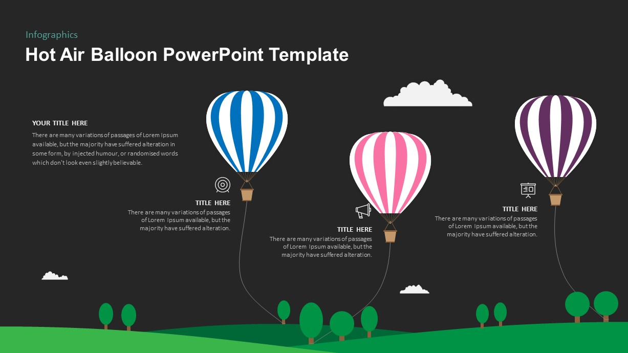 Hot Air Balloon PowerPoint Timeline Template