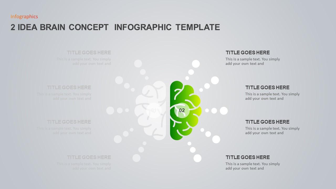 Idea Brain Concept Infographic Template