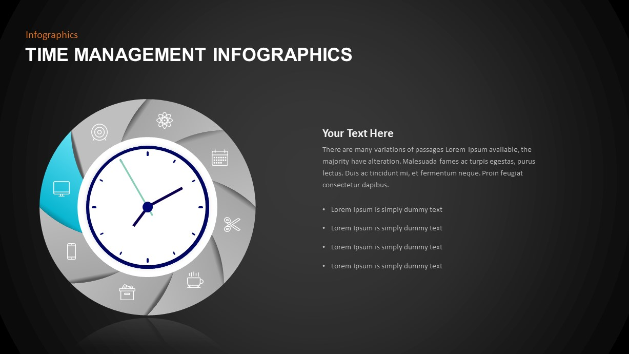 Infographic Time Management Template Diagram