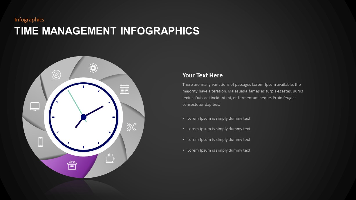 Infographic Time Management Template for PowerPoint