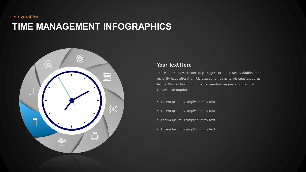 Infographic Time Management Template for Presentation