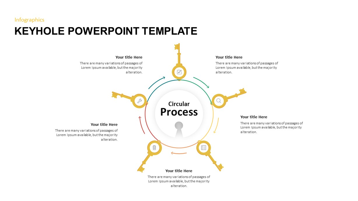 Key and Keyhole PowerPoint template