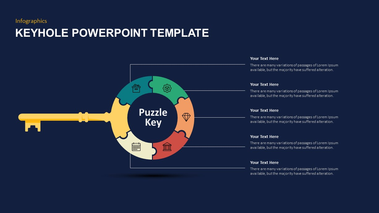 Keyhole Puzzle Template
