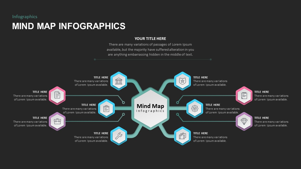 Mind map infographic PowerPoint template