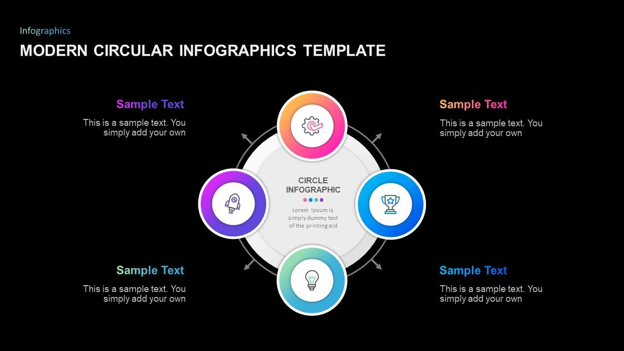 Modern Circular Infographic Template