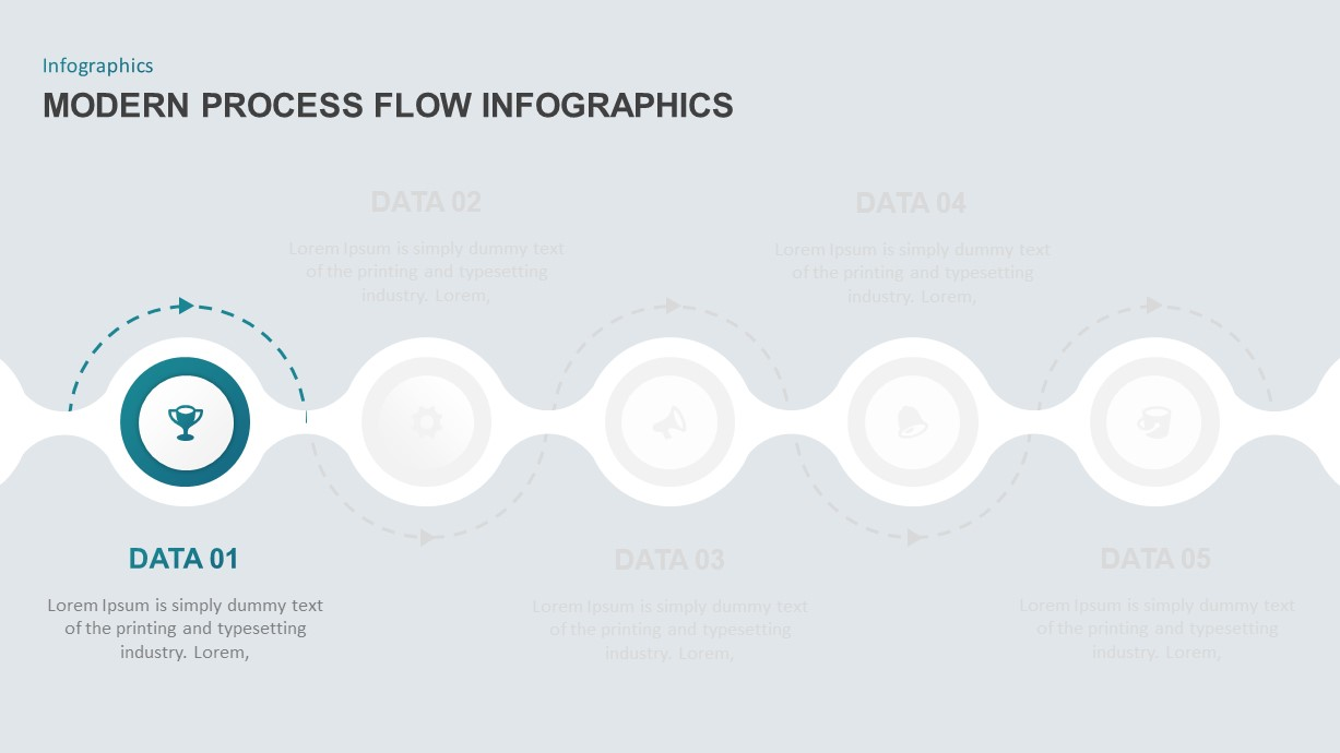 Modern Infographic Process Flow Template