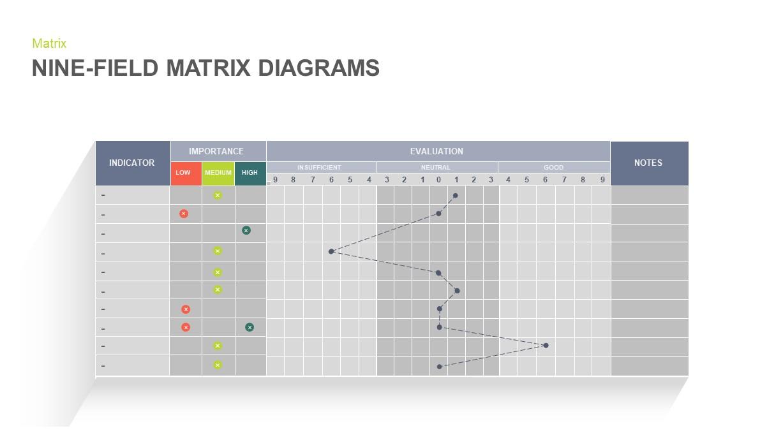 Nine Field Matrix Diagram