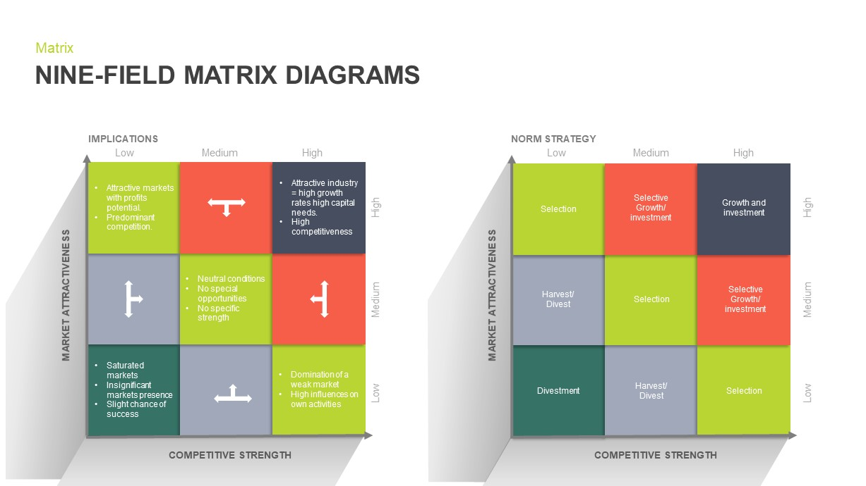 Nine Field Matrix PowerPoint Template