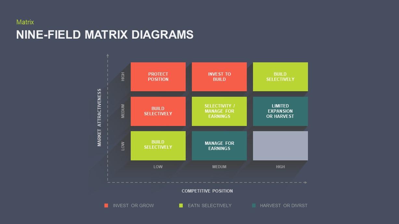 Nine Field Matrix Ppt Diagram