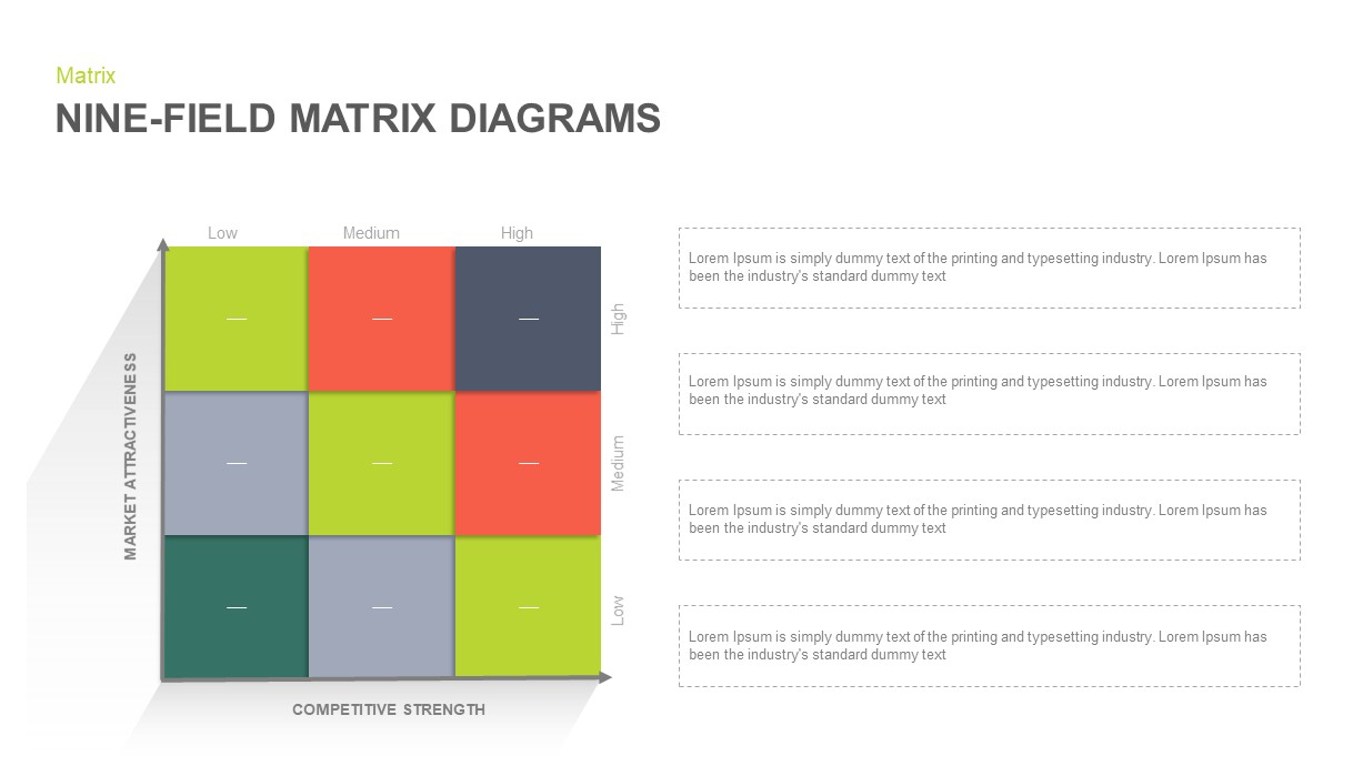 Nine Field Matrix Template for PowerPoint