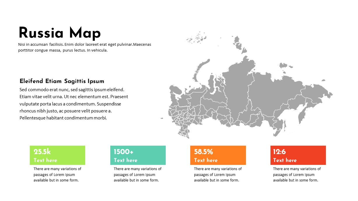 Russia Map PowerPoint Template