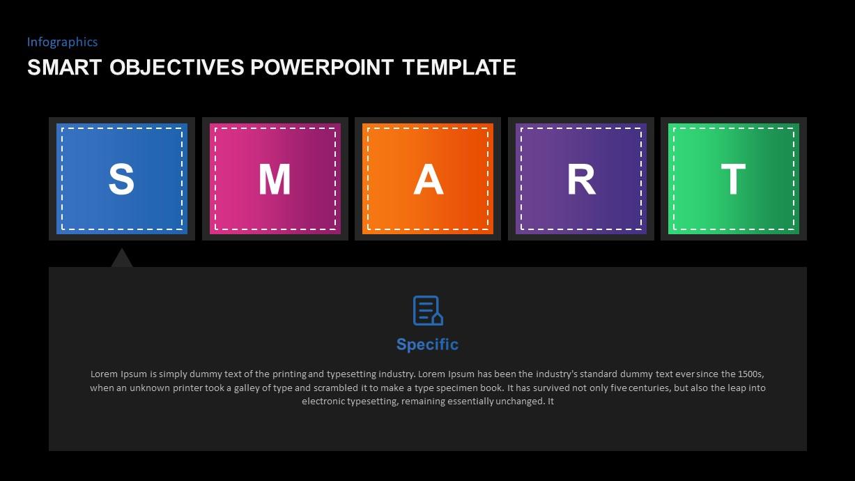 SMART Goals PowerPoint Diagram