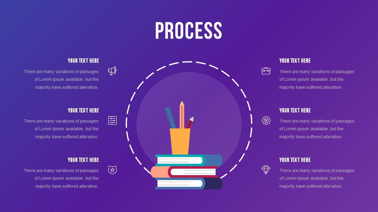 School Education Process PowerPoint Template