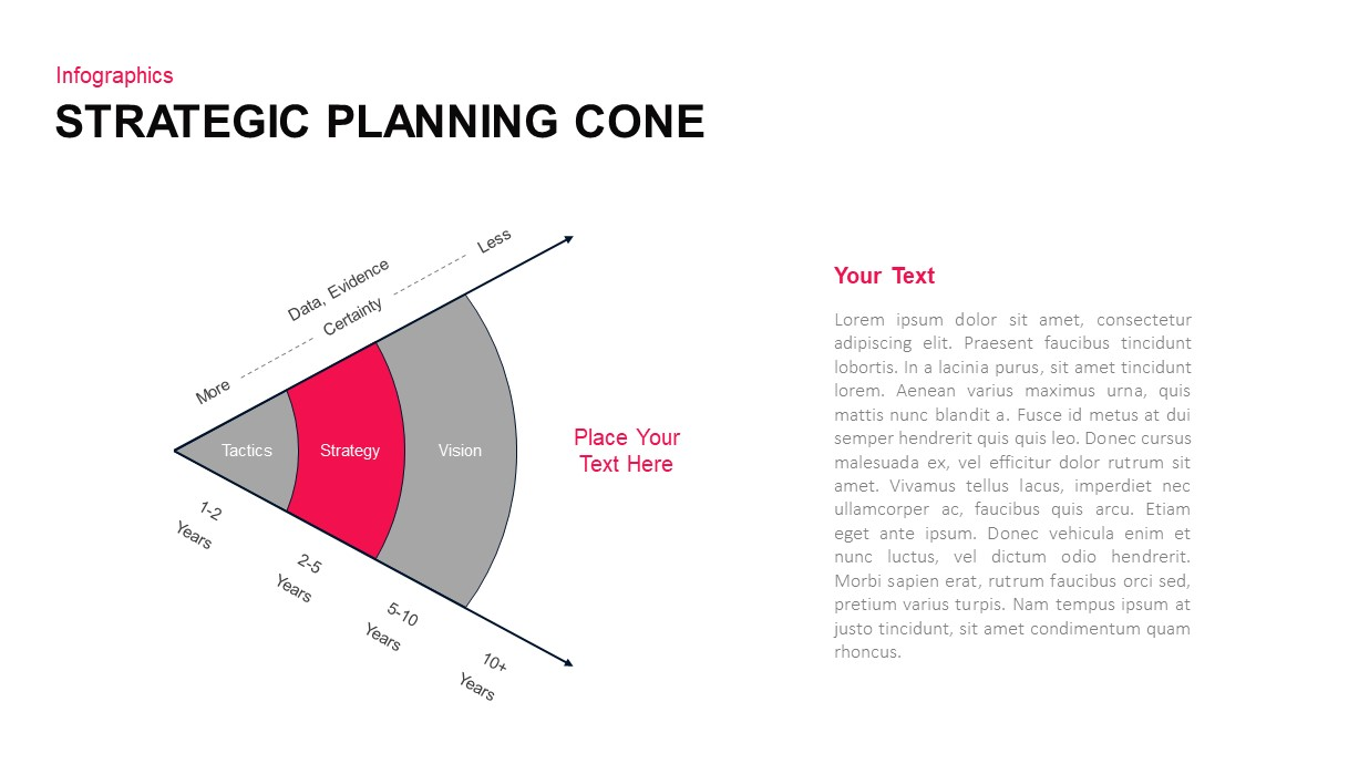 Strategy planning cone ppt diagram