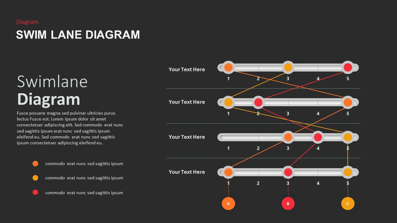 SwimLane Diagram Template for PowerPoint