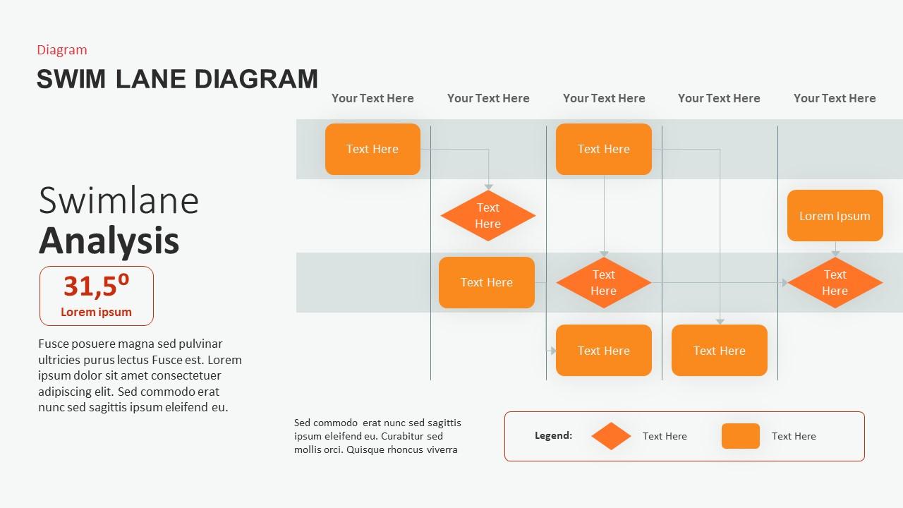 Swimlane Diagram PowerPoint Template