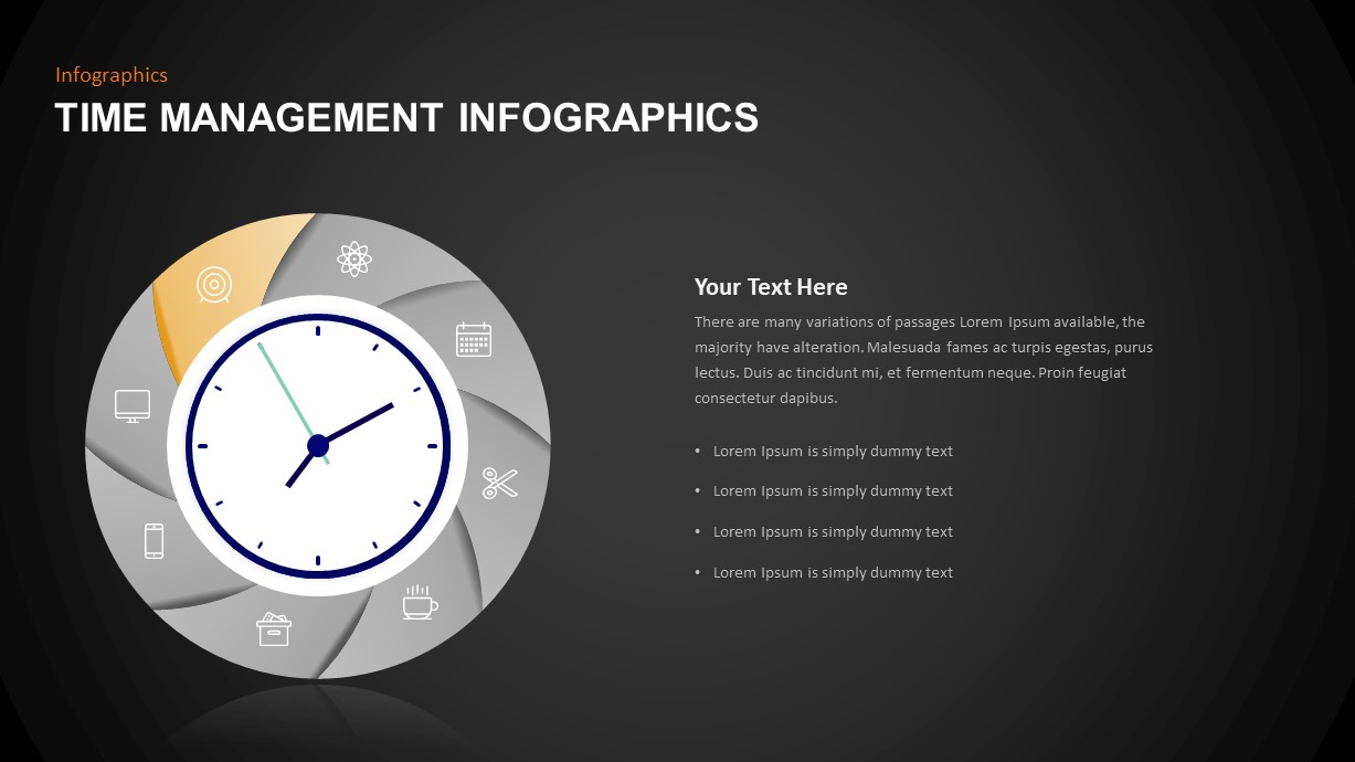 Time Management Infographic Template Diagram