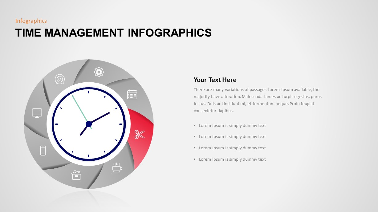 Time Management PowerPoint Slide