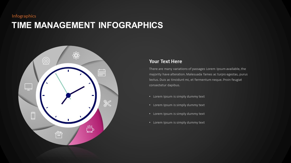 Time Management Template for Infographic