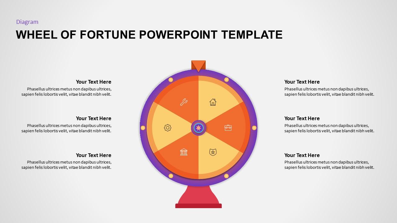 Wheel of Fortune PowerPoint Diagram