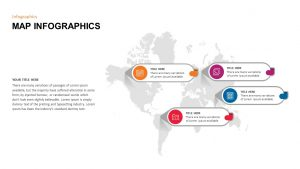 World Map Infographic PowerPoint Template