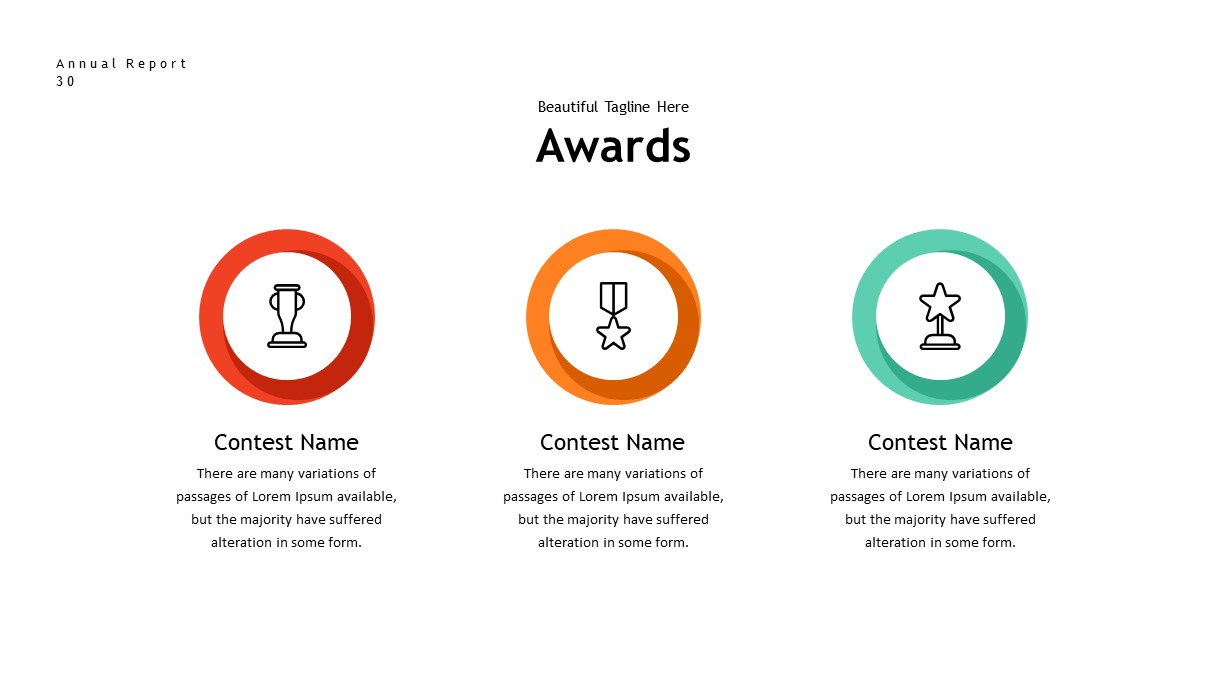 annual report awards PowerPoint template