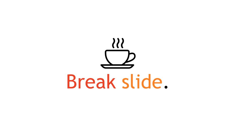 annual report break slide PowerPoint template
