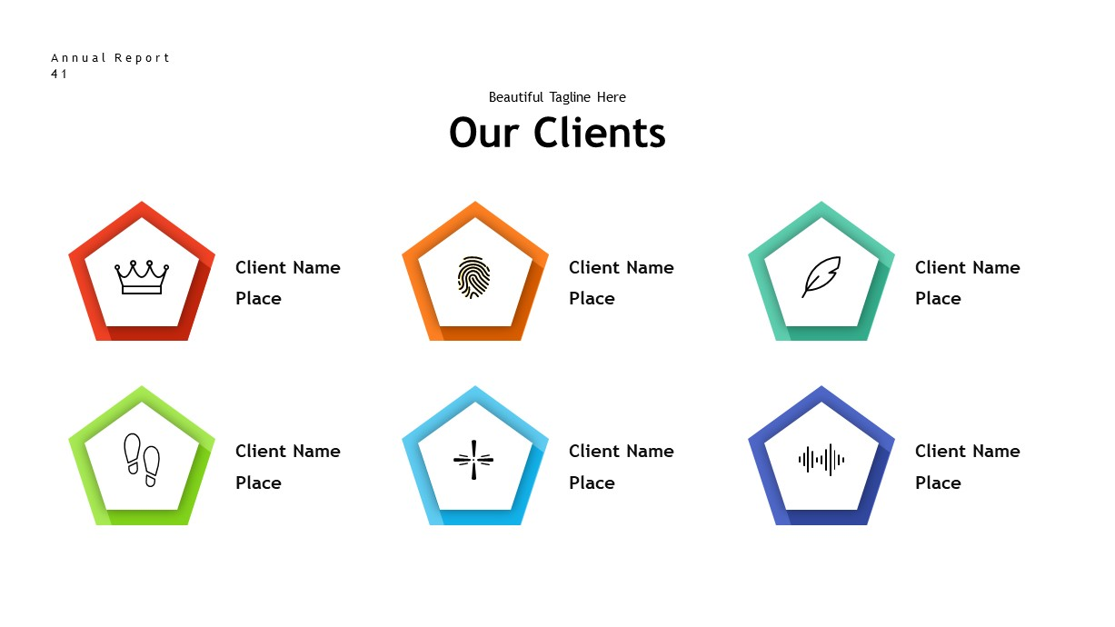 annual report clients PowerPoint template