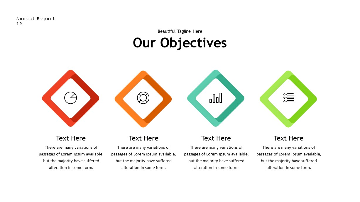 annual report objectives PowerPoint template