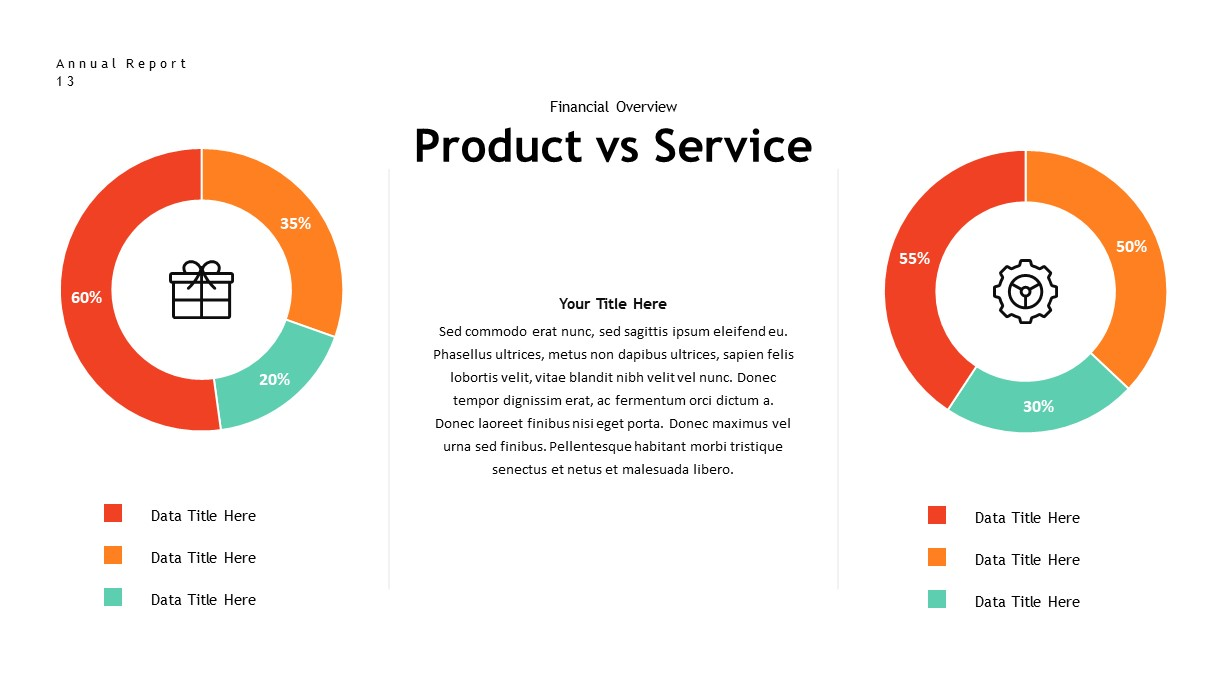 annual report product service PowerPoint template