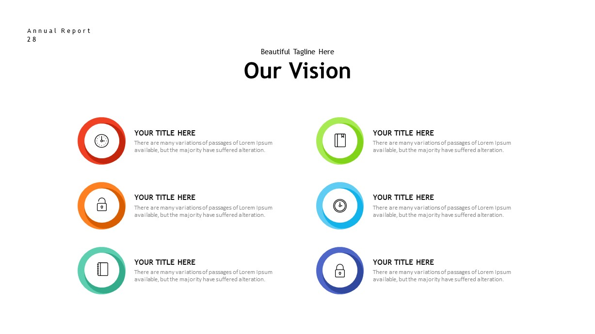 annual report vision PowerPoint template