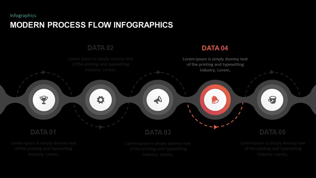 process flow infographic template for PowerPoint