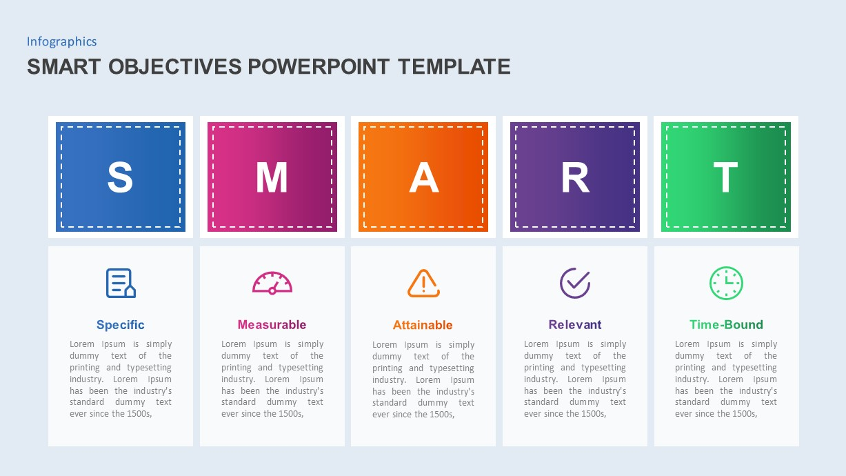 smart objectives powerpoint diagram