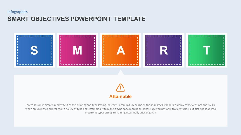 smart objectives powerpoint presentation diagram