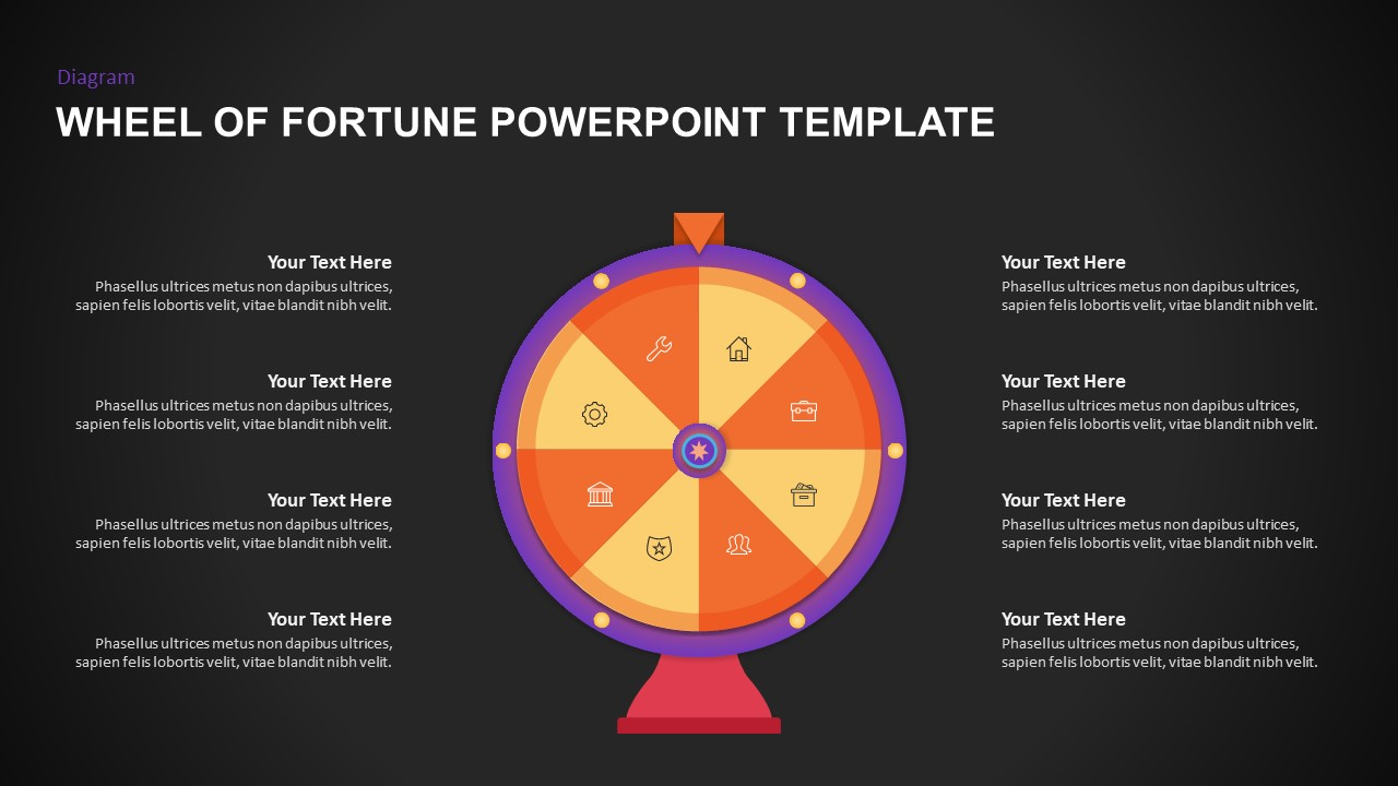 wheel of fortune PowerPoint presentation template