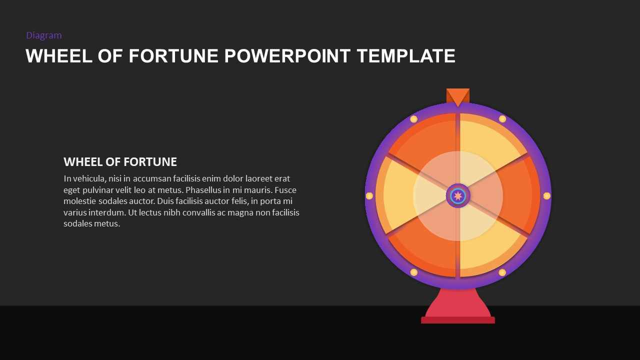 wheel of fortune template for PowerPoint