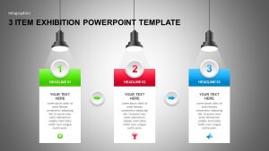 3 Items Exhibition PowerPoint Template