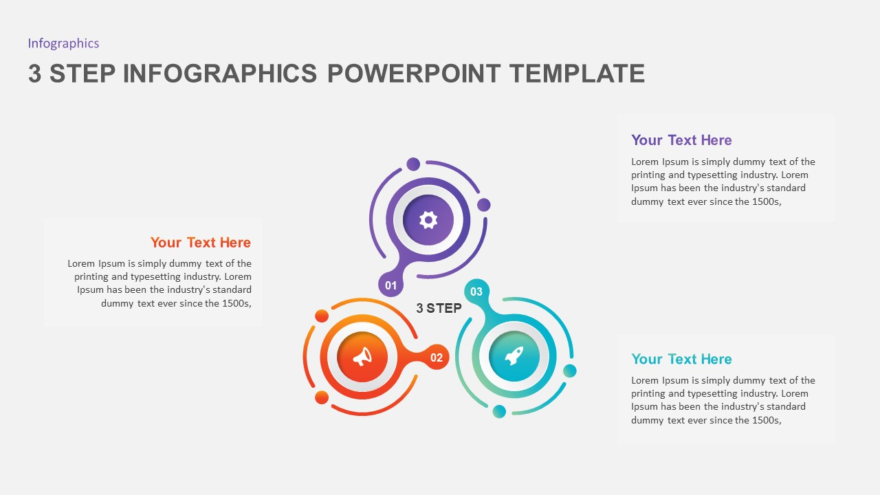 3 step infographic template