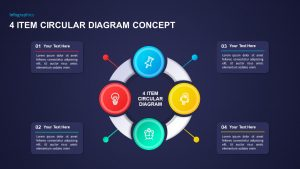 4 Item Circular Diagram Concept for PowerPoint