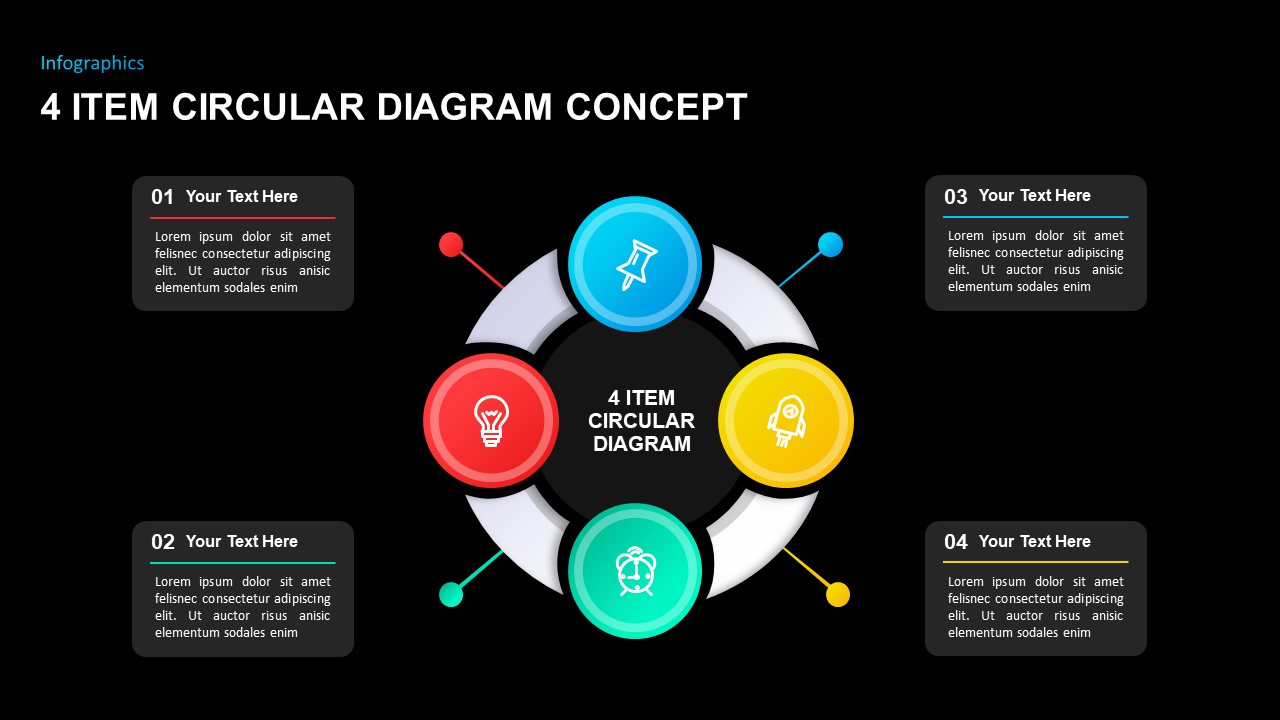 4 Step Circular Diagram Concept PowerPoint Template