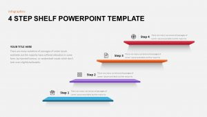 4 Stages Shelf Timeline Template for PowerPoint