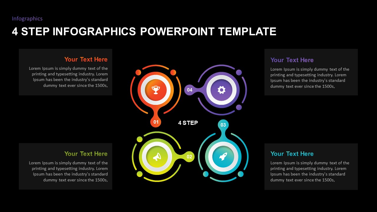 4 step infographic