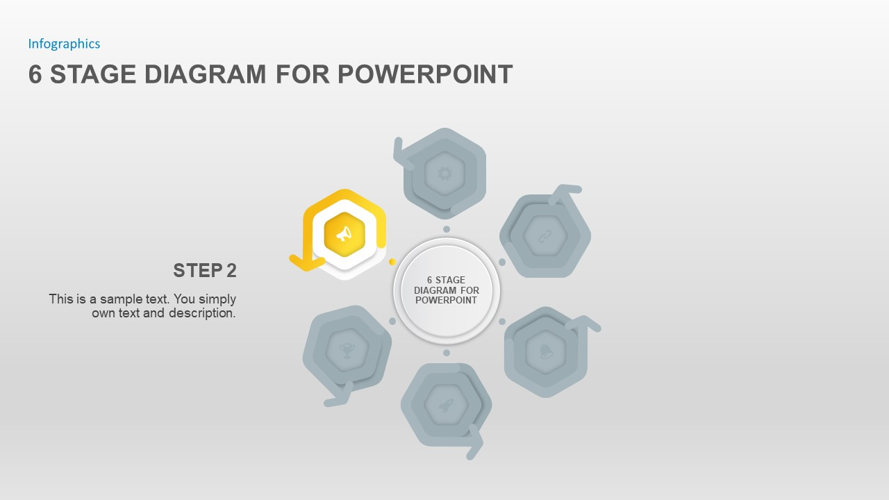 6 Stage Diagram for PowerPoint