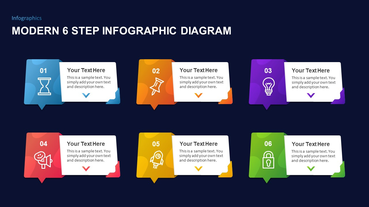 6 Step Infographic Template
