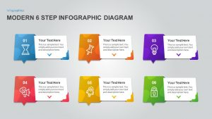 6 Step Process Infographic Diagram