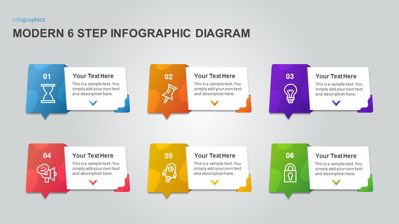 6 Step Process Infographic Diagram